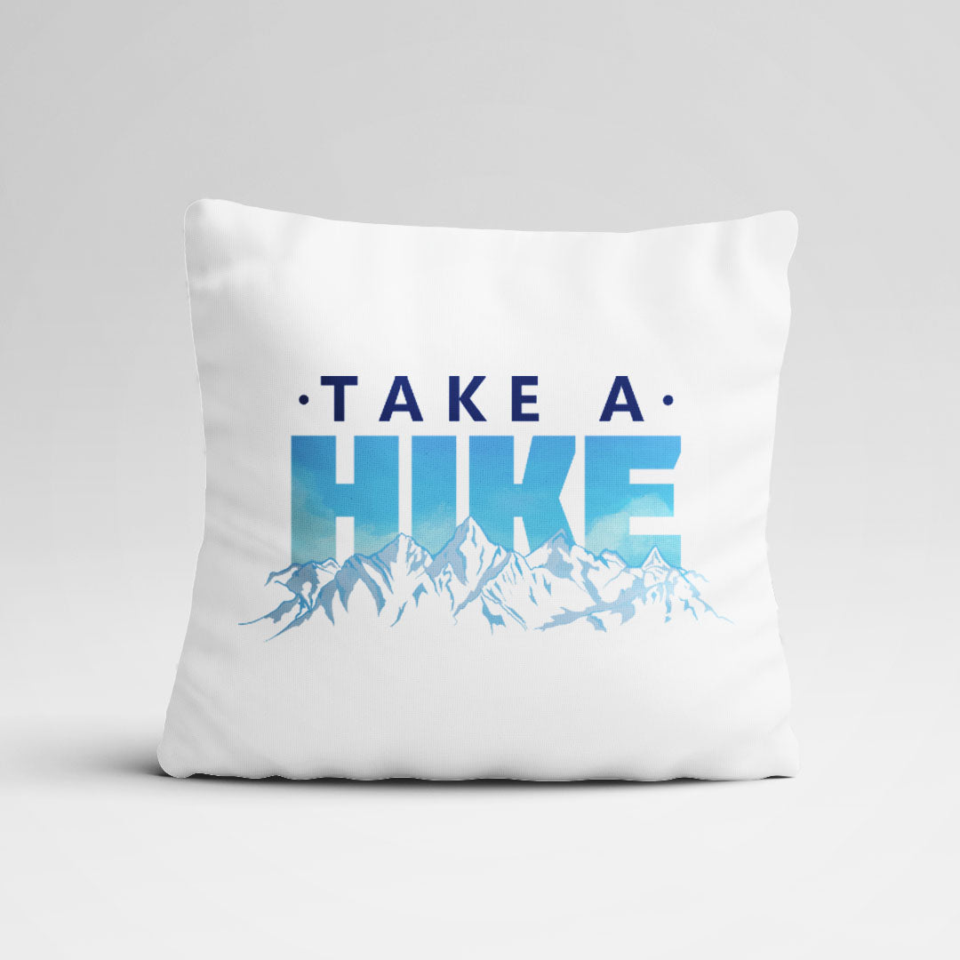 Take a Hike Graphic Throw Pillow Cover