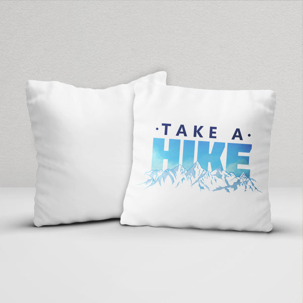Take a Hike Graphic Throw Pillow Cover front and back