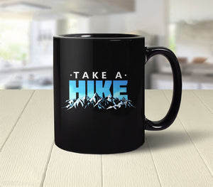 Take a Hike (Black), 11 oz by BootsTees