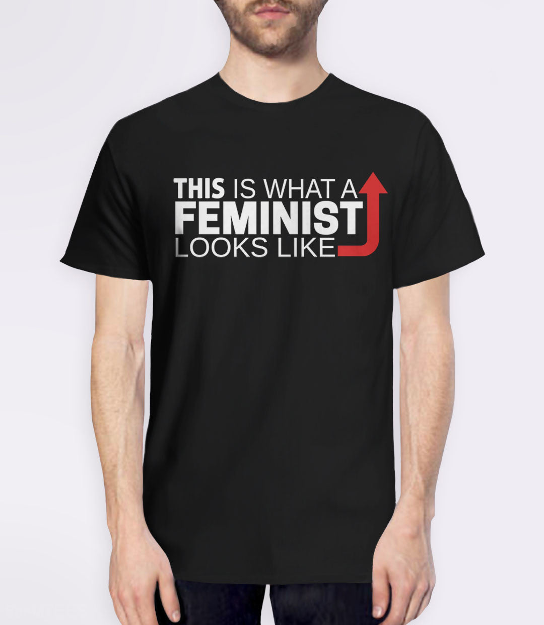 This is what a feminist looks like black t-shirt - mens tee
