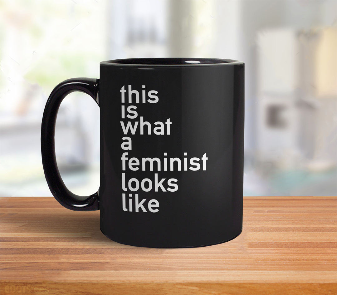 This is what a feminist looks like black mug