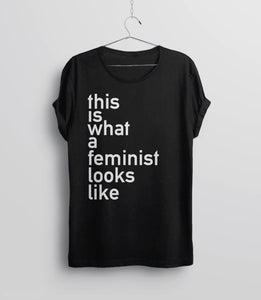 This is What a Feminist Looks Like T-Shirt, Black Helvetica tee by BootsTees