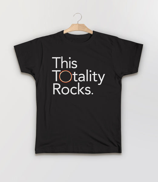 Funny Solar Eclipse T-Shirt: This Totality Rocks - black kids tee