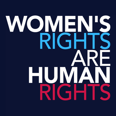 Women's Rights are Human Rights feminist t-shirt
