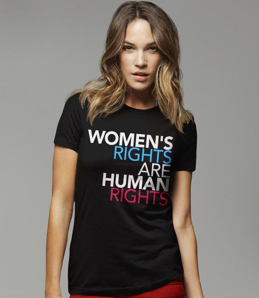 Women's Rights are Human Rights feminist t-shirt - black