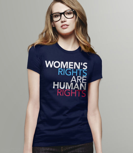 Women's Rights are Human Rights feminist t-shirt - womens tee shirt