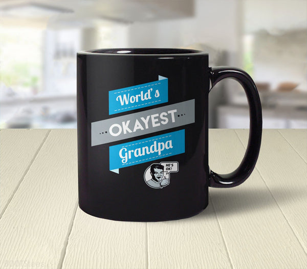 World's Okayest Grandpa, 11 oz by BootsTees