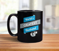 World's Okayest Husband Mug from Boots Tees