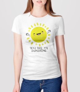You Are My Sunshine T-Shirt with cute kawaii sun - womens tee