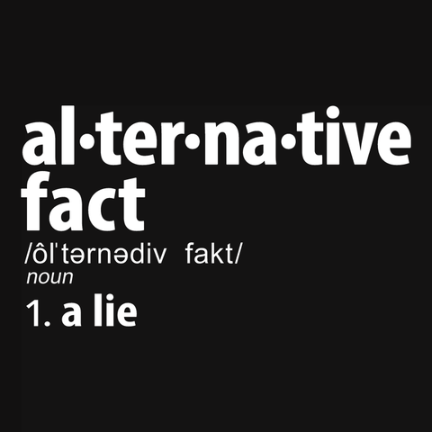 Alternative Fact Definition t-shirt: a lie
