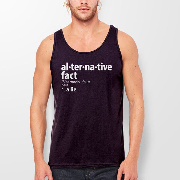 Alternative Fact Definition tank top - black unisex tank