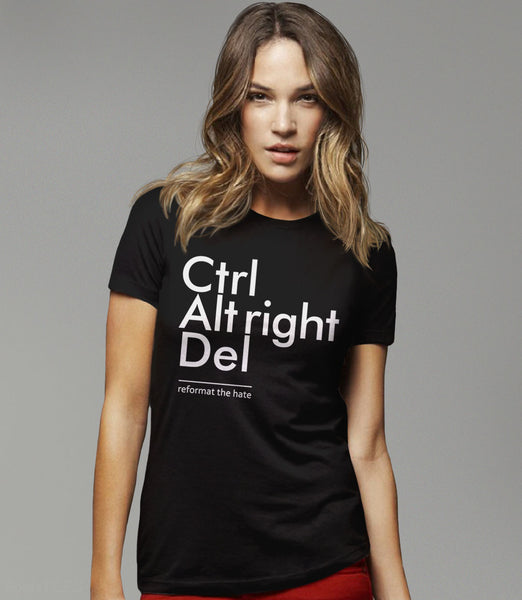 Reformat the Hate (Ctrl Alt Right Del) t-shirt - womens tee