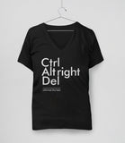 Reformat the Hate (Ctrl Alt Right Del) t-shirt - womens v-neck