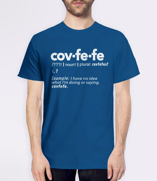 Covfefe Definition t-shirt - blue mens tee