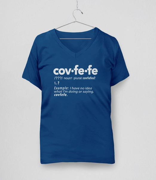 Covfefe Definition t-shirt - blue womens v-neck