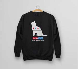 Democat | Political Satire Cat Sweatshirt - black