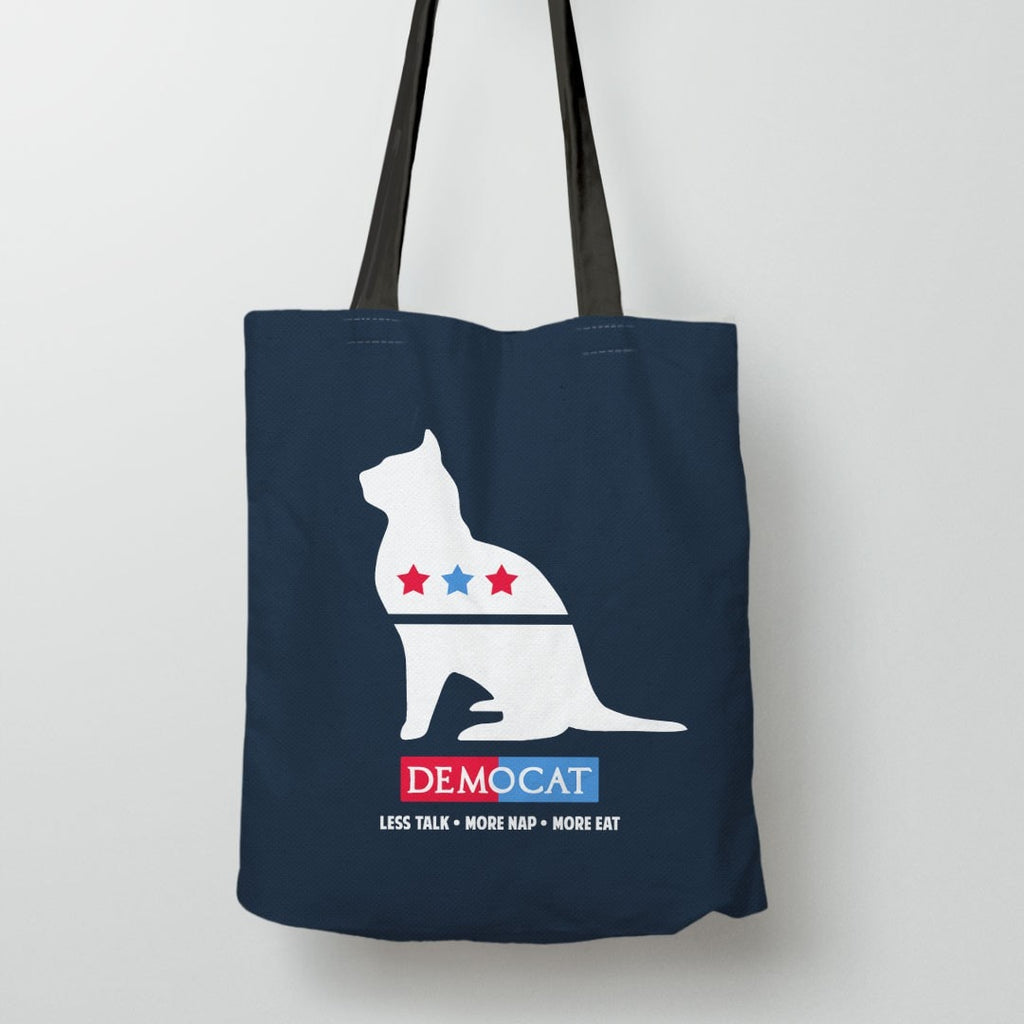 Political satire meme tote bag - demo cat