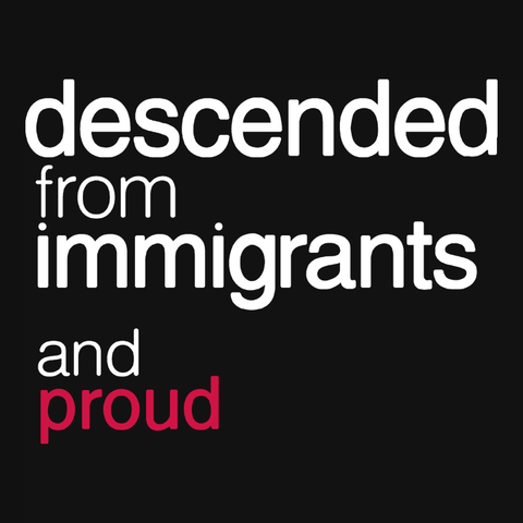 Descended from Immigrants and Proud t-shirt