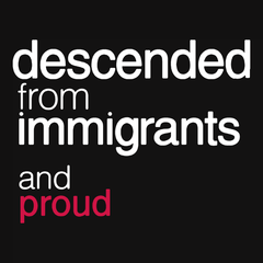 Descended from Immigrants T-shirt from Boots Tees