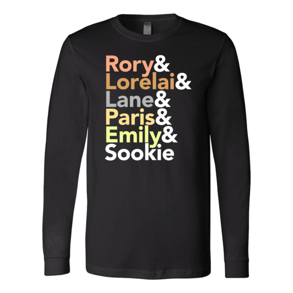 Gilmore Girls gift long sleeve t-shirt with female character names
