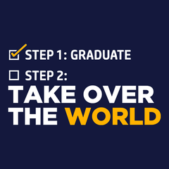 Funny Graduation T-Shirt: Take Over the World T-shirt from Boots Tees
