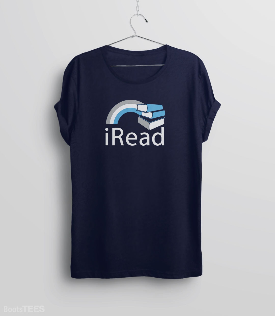 i Read, Navy Mens (Unisex) Tee by BootsTees