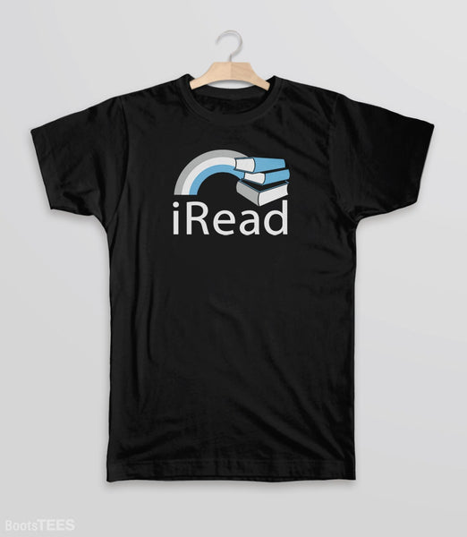 i Read, Black Kids Tee by BootsTees