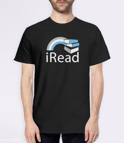 i Read, Black Mens (Unisex) Tee by BootsTees