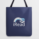 """I Read"" Tote Bag and Reading Gift for Book Lovers 