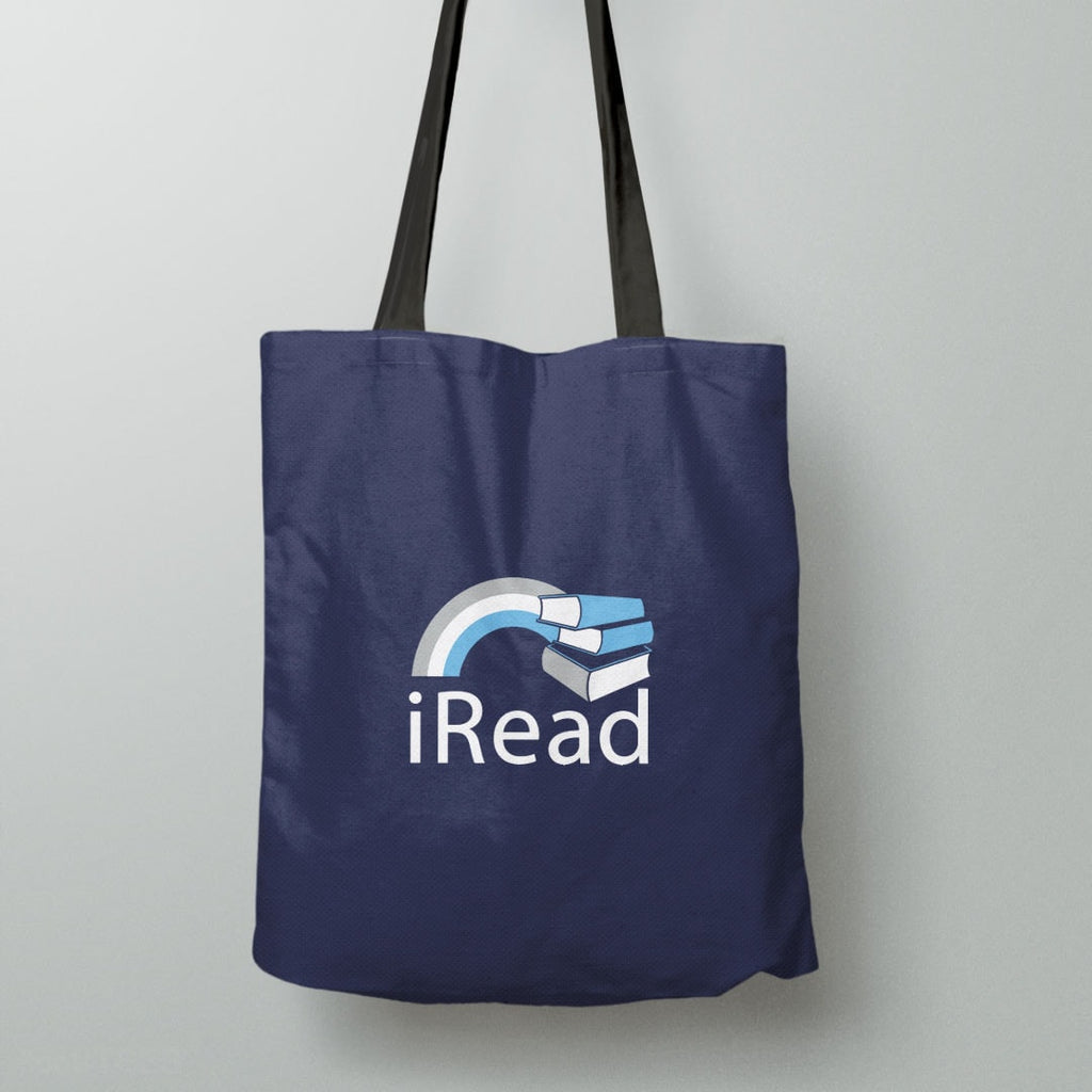"""I Read"" Tote Bag and Gift for Readers 