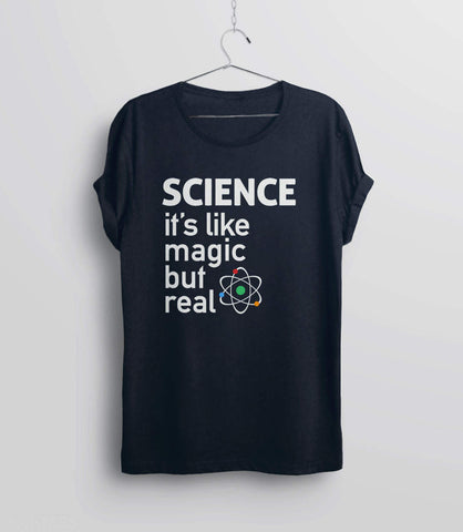 Funny Science Shirt, Black Unisex XS by BootsTees