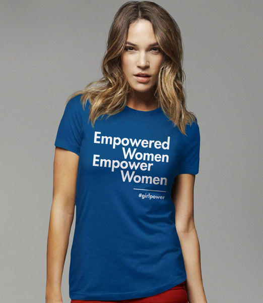 Empowered Women Empower Women Shirt, Black Unisex S by BootsTees