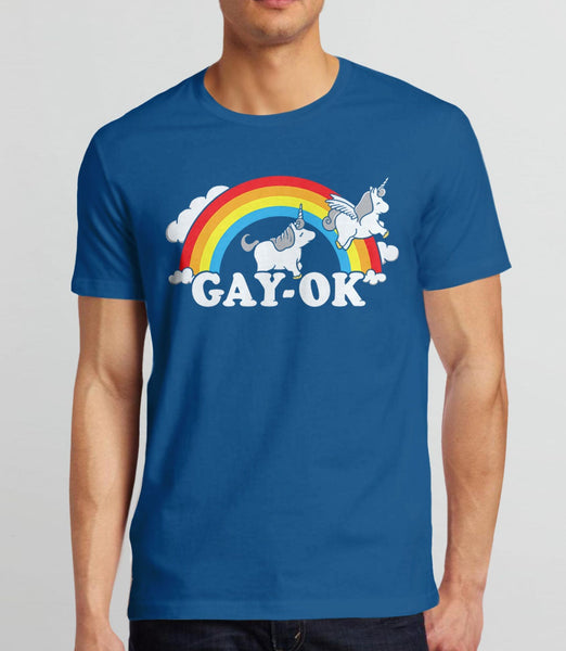 Gay Pride Shirt, Royal Blue Unisex XS by BootsTees