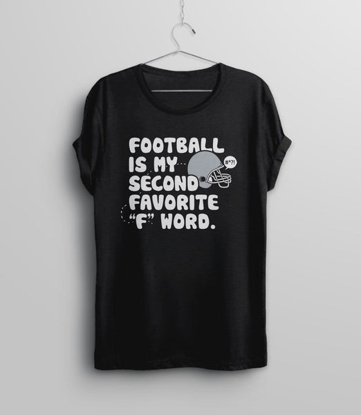 Football Shirt for Women, Black Unisex S by BootsTees