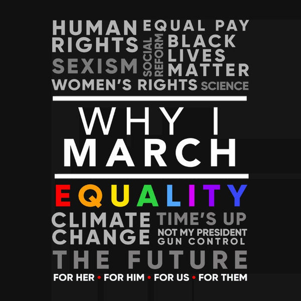 Why I March Shirt | Protest T Shirt, Black Unisex S by BootsTees