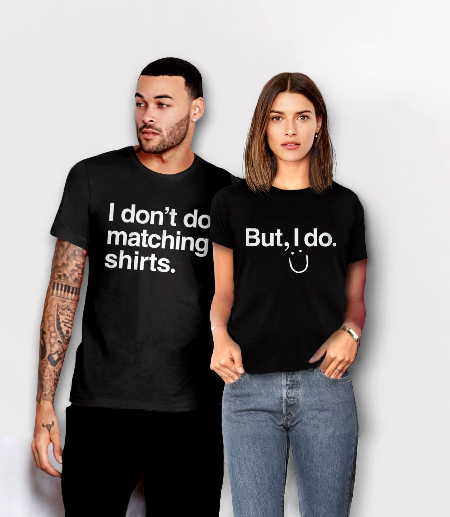 Funny Couples Shirts, Unisex XS I Don't Do Matching by BootsTees
