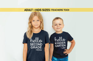 First Day of School Shirt for Boys Girls or Teachers | 1st Day of Kindergarten Tshirt with Custom Name, Preschool Toddler 2T by BootsTees