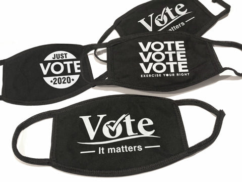 Vote Face Mask, VOTE IT MATTERS by BootsTees