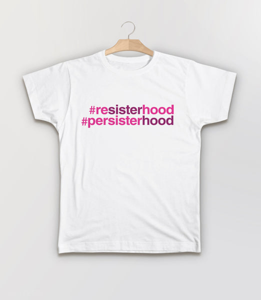 Resisterhood Persisterhood t-shirt - white kids tee