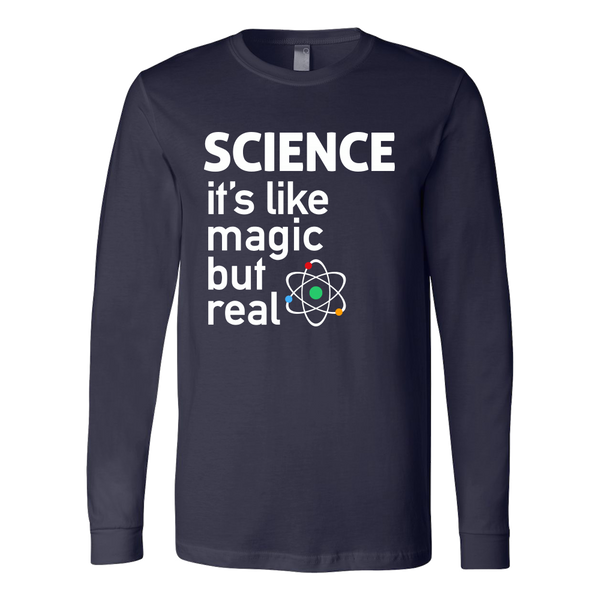 SCIENCE: It's like magic but real long sleeve t-shirt - navy