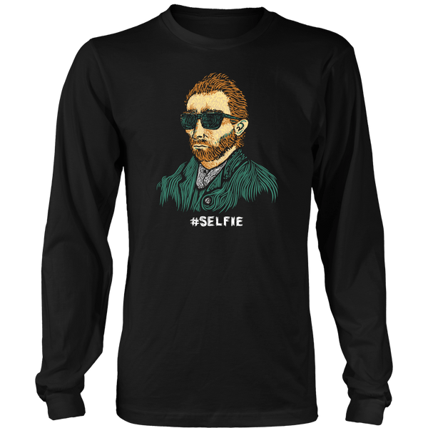 Funny Van Gogh Selfie long sleeve t-shirt - black