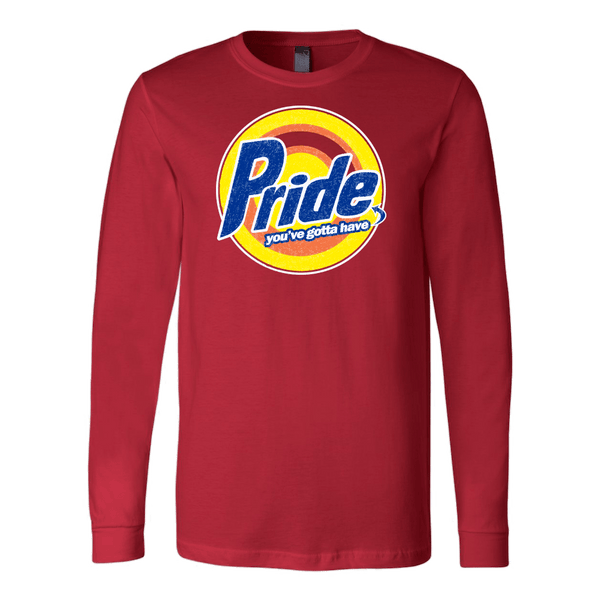 Pride, Red Long Sleeve Tee by BootsTees