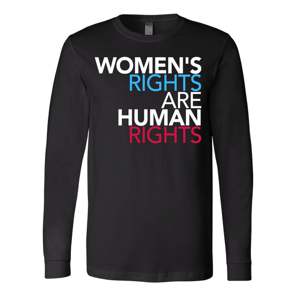 Women's Rights are Human Rights feminist long sleeve t-shirt - black