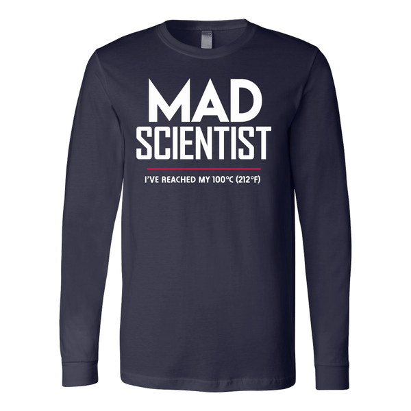 Mad Scientist science march protest t-shirt - long sleeve navy