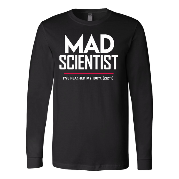 Mad Scientist science march protest t-shirt - long sleeve black
