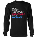 Feminist Quote Sweatshirt: Anonymous Was a Woman