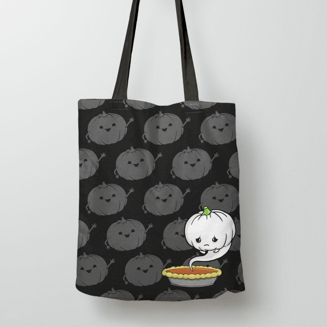 Sad Pumpkin Trick or Treat Bag, Tote Bag by BootsTees