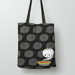 Sad Pumpkin Trick or Treat Bag Tote Bags from Boots Tees