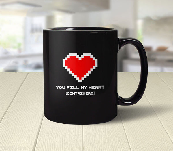 You Fill My Heart Containers Coffee Mug - Geek Valentines Day Gift - 2
