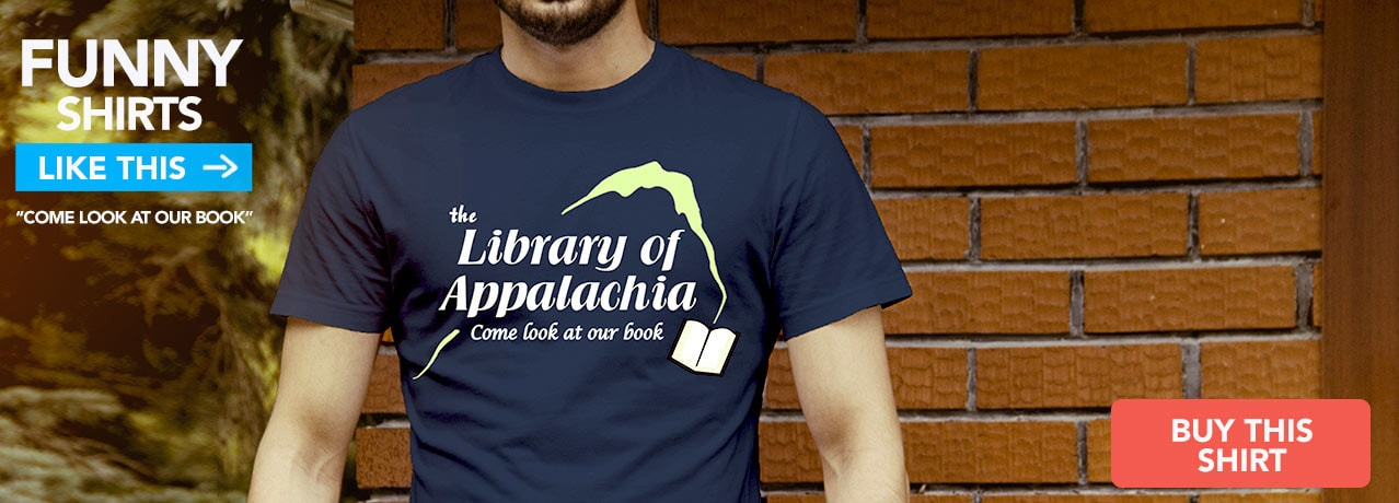 Funny Tee: Come Look at Our Book